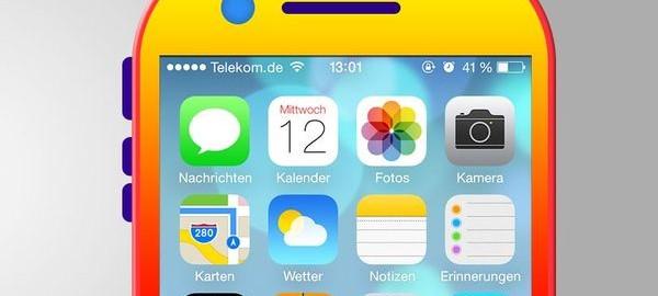Concept iPhone 6 couleurs