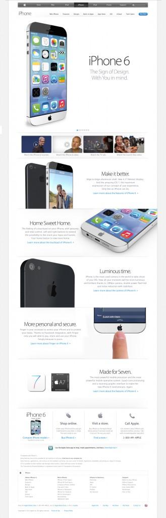 Présentation iPhone 6 Concept